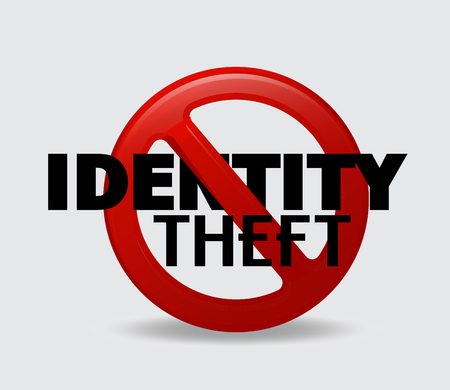 identity theft: Restriction on Identity Theft Vector Symbol