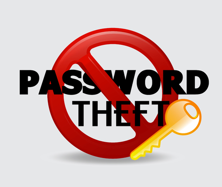 theft: Password Theft Vector Concept
