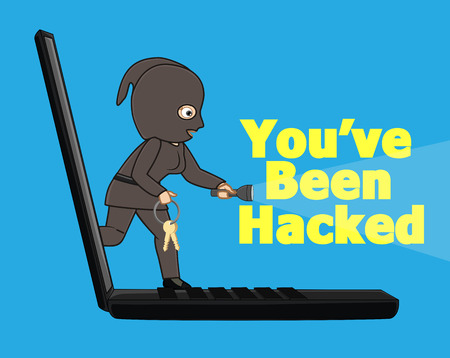 hacked: Your System Has Been Hacked Vector Concept