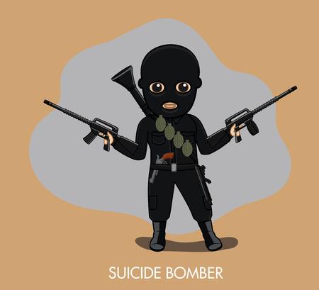 felonious: Bomber Terrorist with Guns