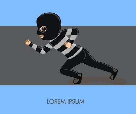 Running Thief Illustration Illustration