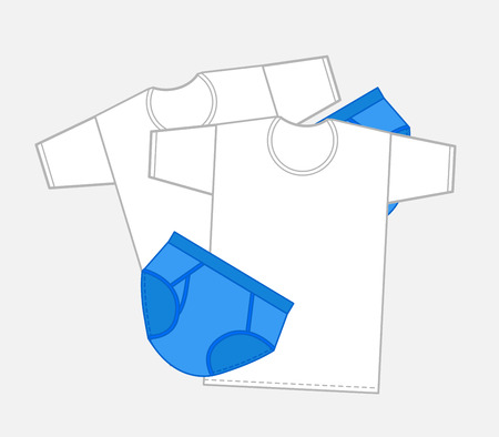 undergarment: T-Shirts and Briefs Vector