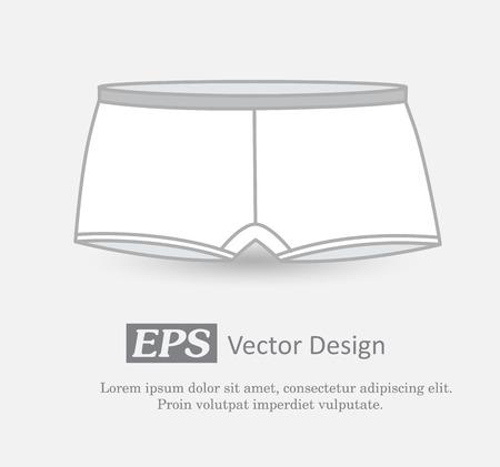 knickers: White Male Underwear Illustration