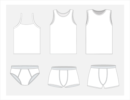 Mens Innerwear Costume Set Иллюстрация