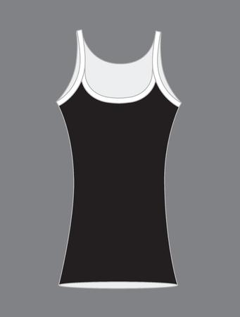without clothes: Gym Vest Vector Design