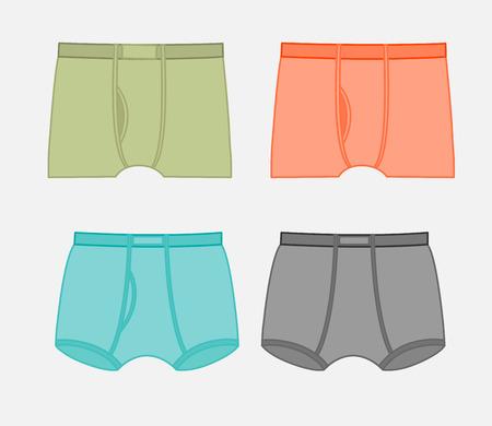 knickers: Gents Underwear Vector Set