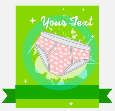 kiddies: Kiddies Underwear Vector Illustration