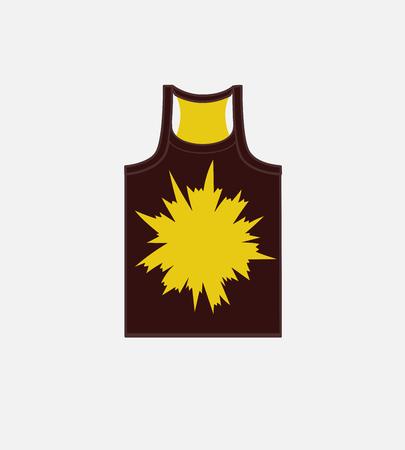 without clothes: Burst Graphic Gym Vest Vector