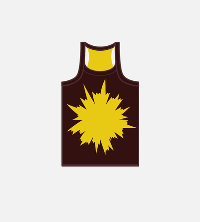 Burst Graphic Gym Vest Vector