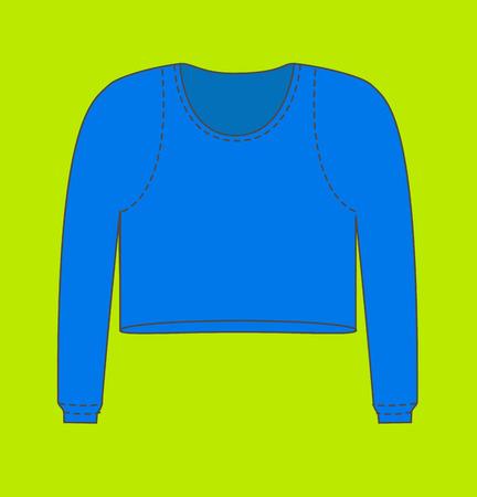 blouse: Blue Female Thermal Blouse Illustration