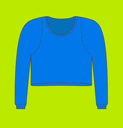 Blue Man Thermal Blouse