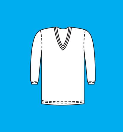 v neck: V-Neck Full Sleeve Sweater Illustration