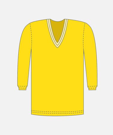 gents: Yellow V-Neck T-Shirt