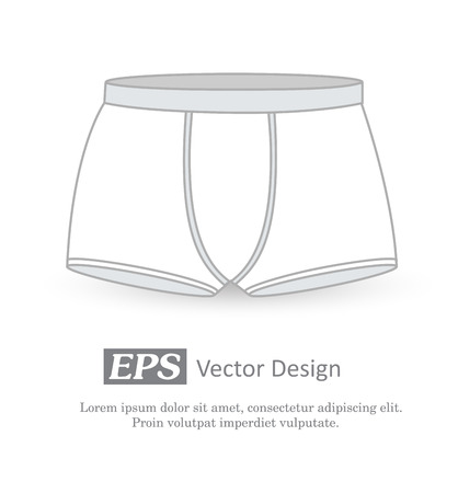 sexy male model: Underwear Vector Template Illustration