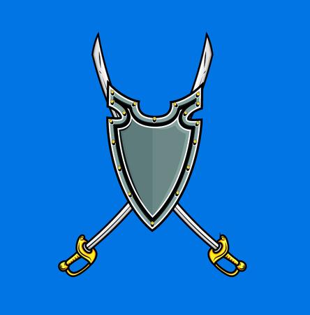 ninja tool: Cross Swords in Shield
