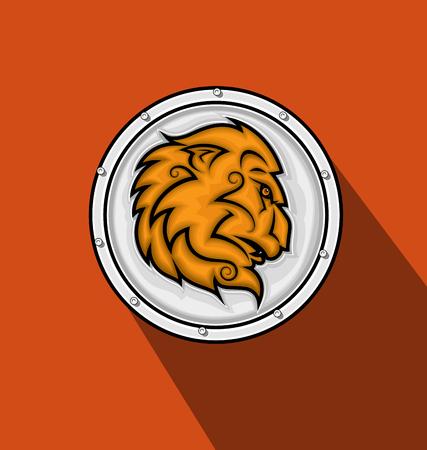heraldic lion: Heraldic Lion Shield