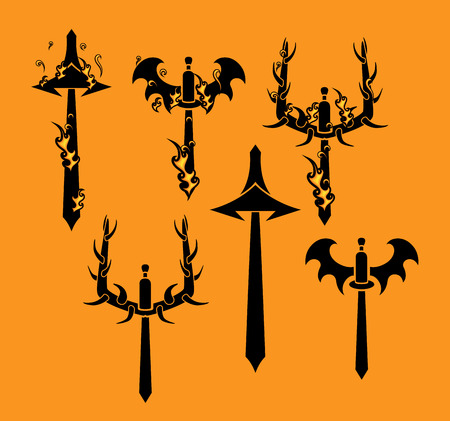sickle: Tribal Swords Vector Silhouette Designs