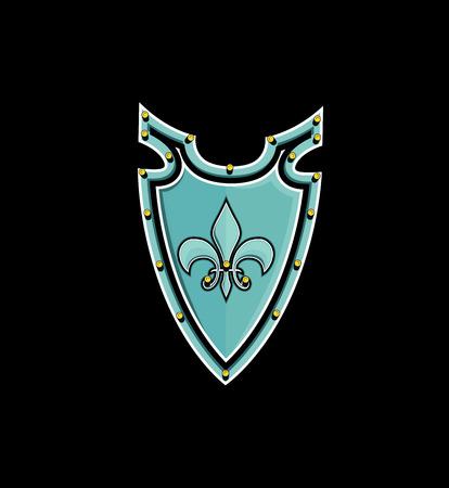 swordsmanship: Retro Shield Vector