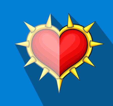 combatant: Full of Thorns Heart Shield Illustration