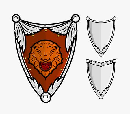 combatant: Heraldic Shields Vector
