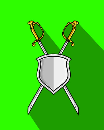 ninja tool: Cross Swords with Shield