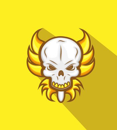 skull mask: Horrible Tribal Skull Mask Vector Illustration