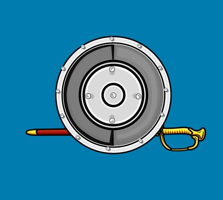 ninja tool: Shield with Sword