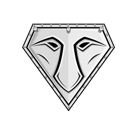 ninja tool: Face Design Shield Vector