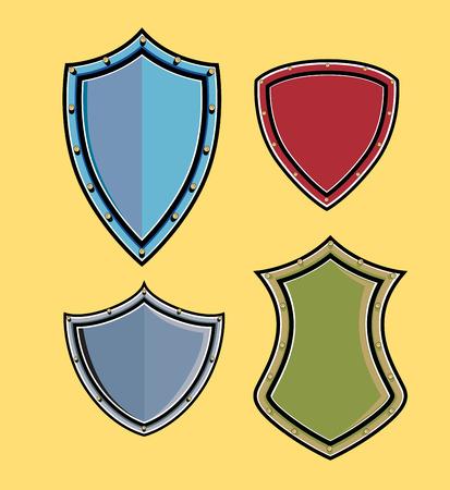 ninja tool: Variety of Retro Shields