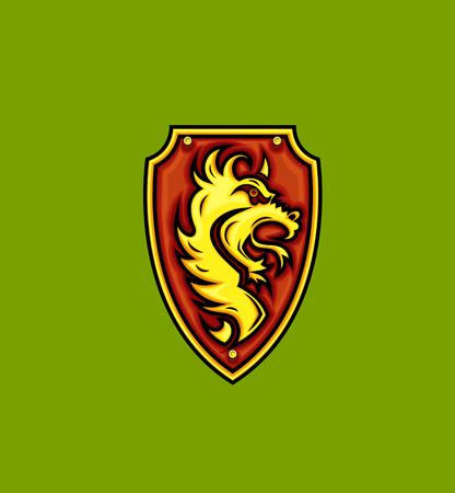 heraldic shield: Tribal Heraldic Shield Vector
