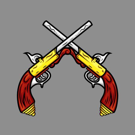 pistols: Ancient Cross Pistols