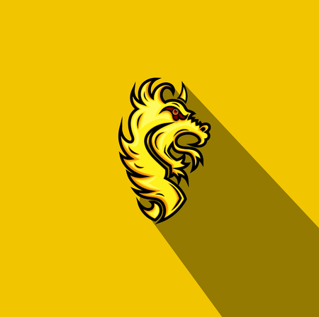 growling: Tribal Lion Tattoo