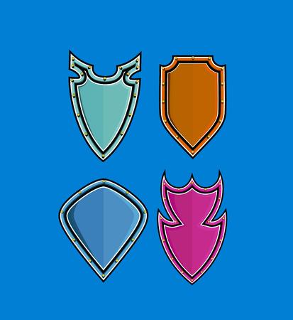 ninja tool: Retro Shields Illustration