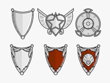 ninja tool: Ancient Shields Vector