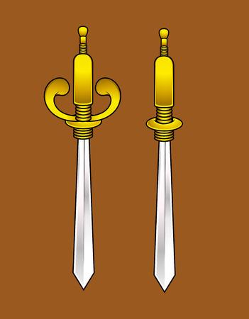 sharp: Sharp Swords Vector
