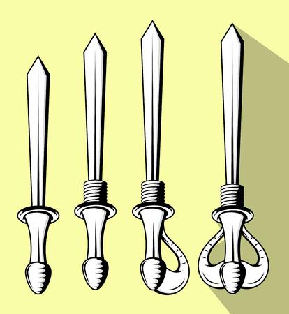 buckler: Swords Designs Set Illustration