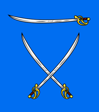 buckler: Cross Swords Vector Elements