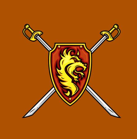 swordsmanship: Heraldic Shield with Swords