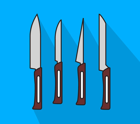 butter knife: Set of Kitchen Knives