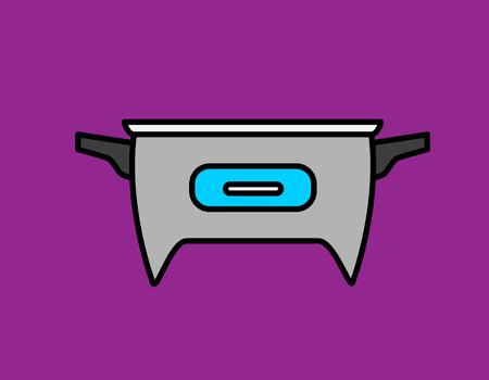 steam cooker: Electronic Boiler Vector