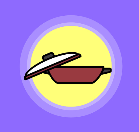 lid: Pan with Glass Lid Vector