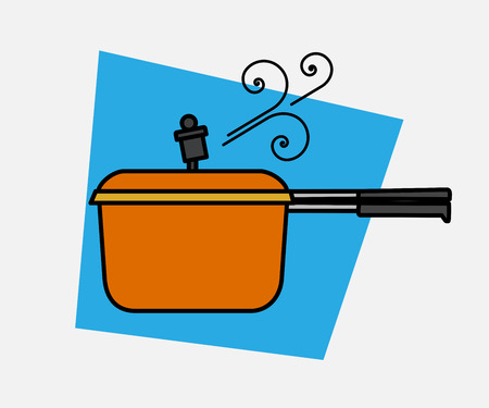 steam cooker: Pressure Cooker Steam Vector