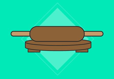 bread maker: Rolling Pin Vector
