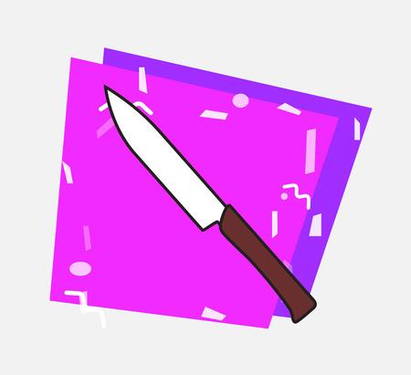 butter knife: Knife Vector