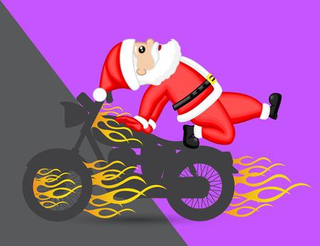 avoid: Santa Trying to Avoid from Burning Bike