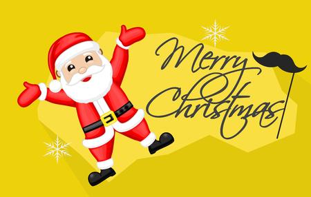 happy christmas: Happy Santa Christmas Card