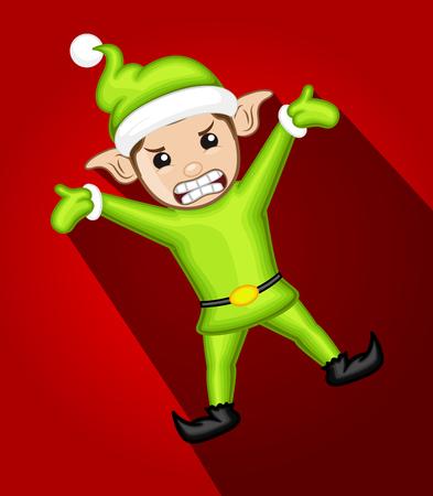 Aggressive Elf Character Illustration