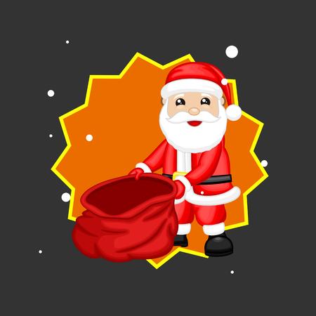 Santa Claus Showing Empty Gift Bag