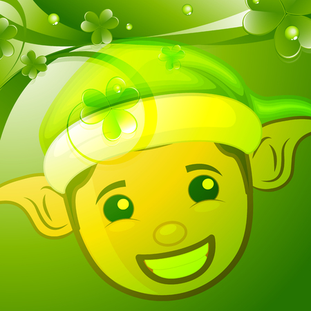 patricks day: Happy Elf Face Patrick�s Day Background