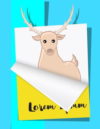 Christmas Reindeer Greeting Template